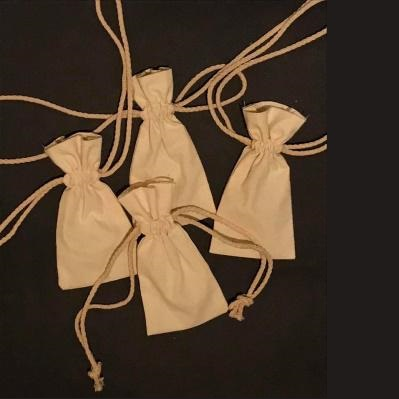 DRAWSTRING POUCHES WITH COTTON CORD IN CHOSEN COLOUR